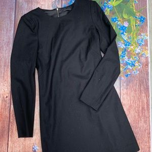 Theory Wool Blend Long Sleeve Dress Size Estimated